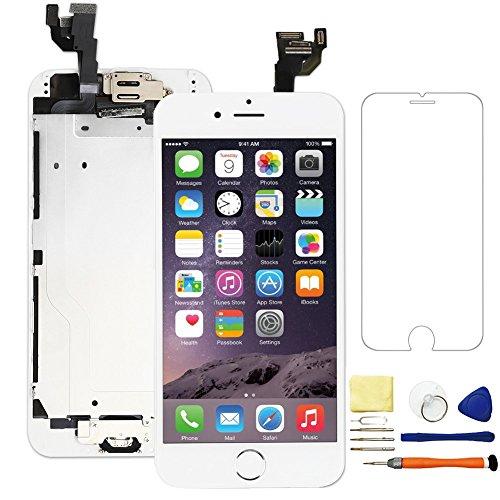 upHere LCD für iPhone 6weiß 4.7Zoll Versammlung komplett Display Touch Screen Ersatz Digitizer mit Kleinteile + Werkzeug -