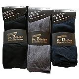 6 Paar Socken ohne Gummi Diabetikersocken 98% Baumwolle Ohne Gummizug Schwarz Blau Grau