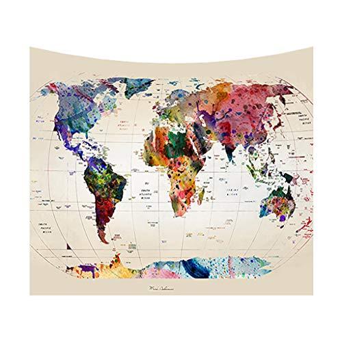 Opalley multicolore tappeto mappamondo arazzo da parete tappezzeria