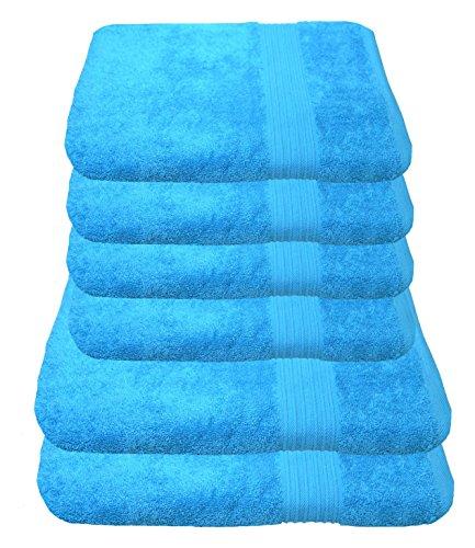 Julie Julsen Handtuch Set 2X Duschtuch 4X Handtuch Türkis/in 23 Farben erhältlich Weich und saugstark
