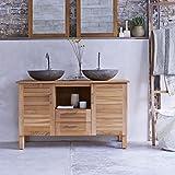 Waschbeckenunterschrank Bad Unterschrank Waschtisch Teakholz teak massiv