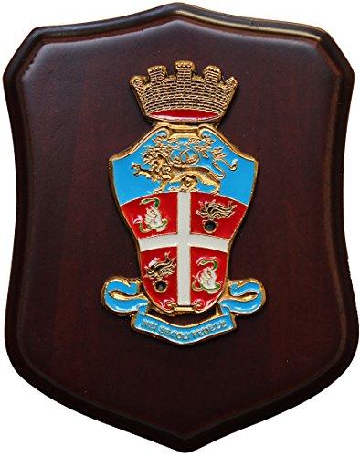 mini-gold-heraldic-crest-carabinieri-carabinier-araldico-11-x-9-cm-coat-of-arms