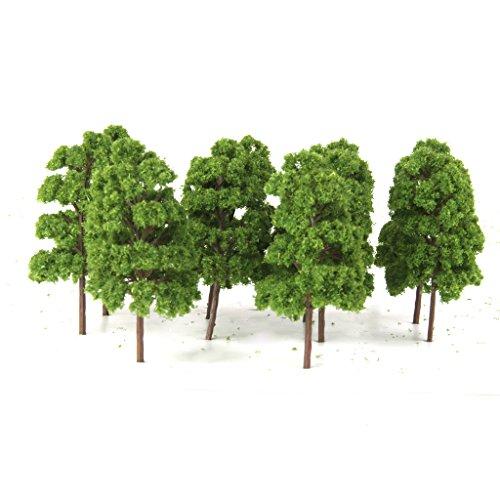 10pcs Modelo de Árbol Paisaje de Tren Arquitectura Modelismo Verde Claro Escala...