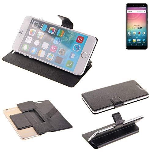 K-S-Trade Schutz Hülle für Allview V3 Viper Schutzhülle Flip Cover Handy Wallet Case Slim Handyhülle bookstyle schwarz