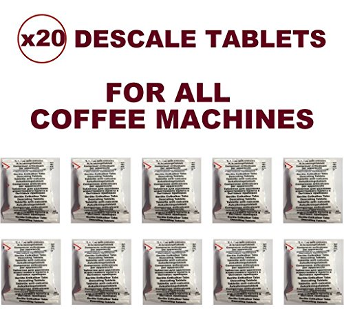 20Entkalker Entkalker Tabletten Kompatibel Mit Alle Tassimo, Senseo, Nespresso, Dolce Gusto, Lavazza...