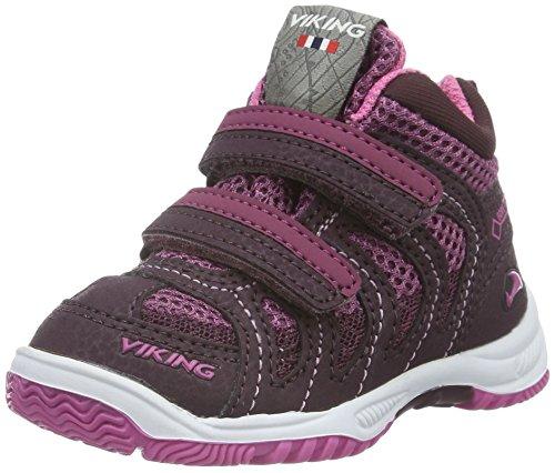Viking Cascade Ii Mid, Baskets Basses Mixte Enfant Violet - Violett (Aubergine/Plum 8362)