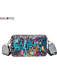 HITSAN INCORPORATION 2018 New Women Messenger Bag Hip-Hop Street Style  Summer Graffiti Ladies High defea0350a