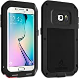 FUNDA ORIGINAL LOVE MEI POWERFUL DE ALUMINIO SAMSUNG GALAXY S6 EDGE - NEGRO -