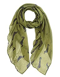 Ladies Dachshund Sausage Dog Women's Scarves of Cute Animal Print Oversize Long Scarf Wrap Shawl by DiaryLook