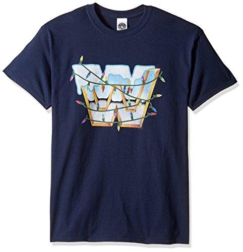 WWE Herren T-Shirt Weihnachten - Blau - Groß