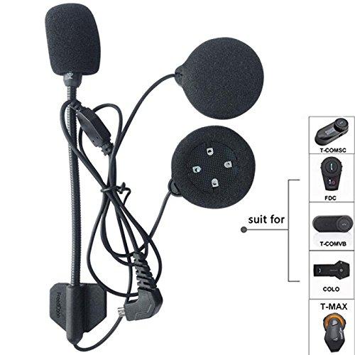Micrófono Altavoz duro cable de los auriculares para el casco de FreedConn...