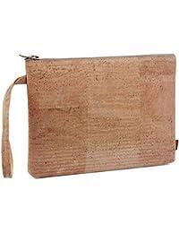 ac9968b32 SIMARU Elegante Bolso de Mano hecho de moderno corcho / piel de corcho,  bolsa porta