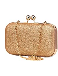 0ba8b823027 Tooba Handicraft Party Wear Beautiful Bling Box Clutch Bag Purse For  Bridal, Casual, Party