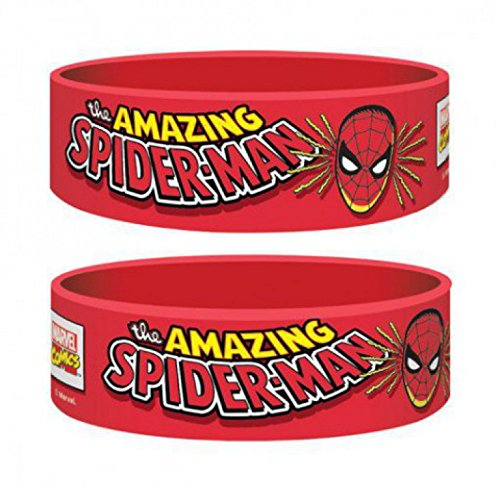 1art1 73403 Spider-Man - Spider-man, Marvel Retro Armband 6 x 2 cm