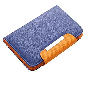 Jo Jo Z Series Magnetic High Quality Universal Phone Flip Case Cover Stand For  Micromax X285 Blue Orange