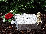 Base in pietra simile a base in granito per tomba lampade Grab luci Lanterne & # x2665; Gioielli Grab luce tomba tomba candela cuore griglia Gabbione Cimitero Cuore il dolore Amore