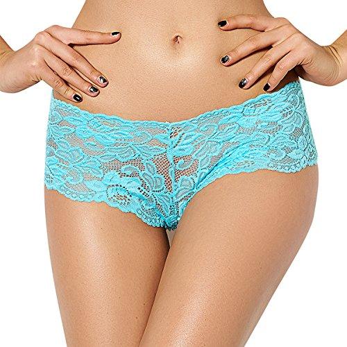 E-Girl 2er Pack G5059 Damen String Panties Hipster Blau