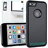 FLYCASE® [Custodia antigravità per iPhone 7] Custodia antigravità autoadesiva con nanotecnologia | ADATTAMENTO PERFETTO | Custodia per selfie antiscivolo