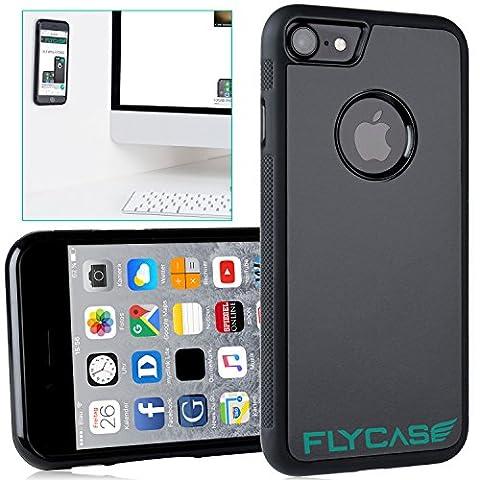 FLYCASE® [Etui anti-gravité pour iPhone 7 ] Etui de protection anti-gravité Nanotechnologie autocollante | AJUSTEMENT PARFAIT | Etui selfie antidérapant goat-case