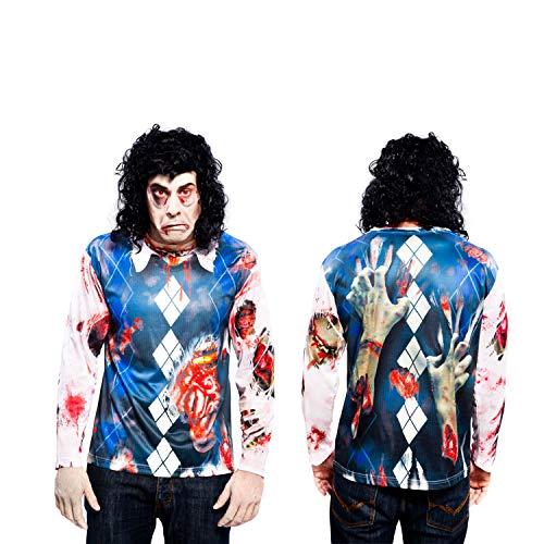 Partychimp 83-Y00004 - Zombie T-Shirt, Erwachsene, XL, -