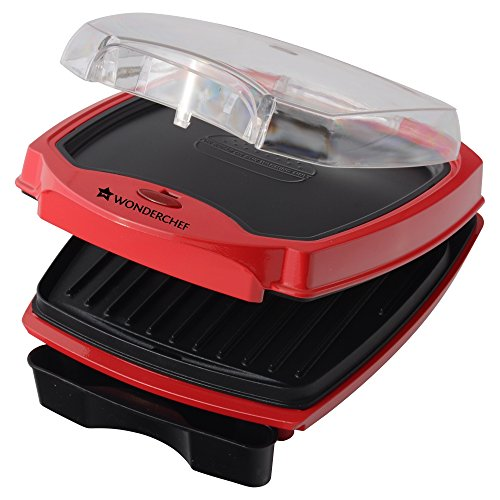 Wonderchef Sanjeev Kapoor Tandoor 63151933 1000-Watt Burger and Grill Master (Red and Black)