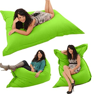 "Gilda® Whopper BeanBag LIME GREEN FRESCO - Indoor & Outdoor Bean Bag Whopping 5ft 8"" x 4ft 4"" Stain & Water Resistant"
