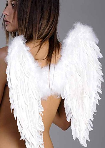 Gotische gefallenen Engel White Feather Wings
