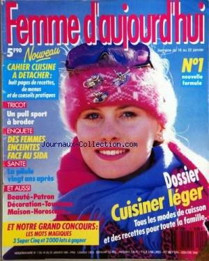 FEMME D'AUJOURD'HUI [No 1] du 16/01/1989 -...