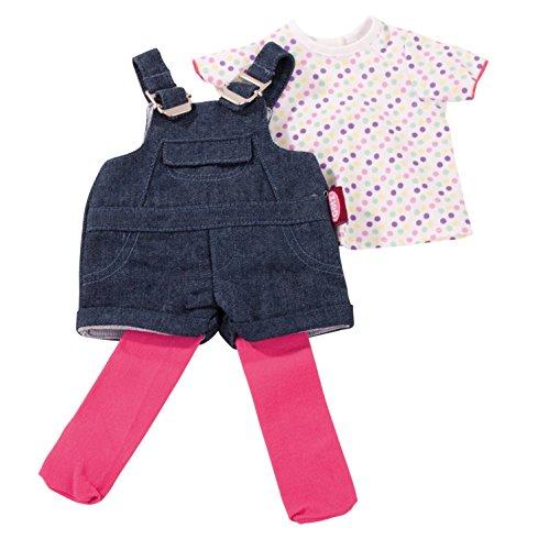 Preisvergleich Produktbild Götz 3402053 Kombination Latzhose Shorty - Jeanslatzhosen-Set Puppenbekleidung Gr. XL - 3-teiliges Bekleidungs- und Zubehörset für Stehpuppen mit einer Größe von 45 - 50 cm - bestehend aus Jeanslatzhose, T-Shirt und Strumpfhose - geeignet für Kinder ab 3 Jahren