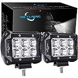 """MICTUNING 2pcs 4"""" 18W Projecteur Phare de Travail Feux Antibrouillard LED Spot LED CREE 4X4 pour Camion, Off Road, 4x4, SUV, UTV, VTT, Bateau, Moissonneuse,etc."""