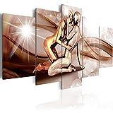 murando Quadro 200x100 cm 5 Pezzi Stampa su Tela in TNT XXL Immagini Moderni Murale Fotografia Grafica Decorazione da Parete Bacio h-C-0027-b-m