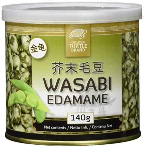 Golden Turtle Edamame mit knusperige Wasabihülle, 12er Pack (12 x 140 g)
