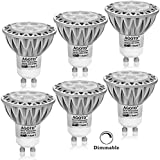 AGOTD Pack de 6 Bombillas LED a Gu10 Led 7w, Lampara Led Regulable, Blanco Cálido 2700K, LED de luz Cálido 560Lm, Lampara Incandescente Equivalentes a 50W , Regulable, CRI>80, Casquillo GU10,Iluminacion LED 230V,Spot Luz Led