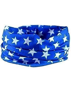 PAÑUELO BANDANA BLUE STAR - RUFFNEK Prendas Para Cabeza Multifuncional Moto Calentador de cuello - Talla Única
