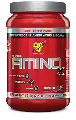 BSN Supplemento Nutrizionale Amino X, 70 Srv, Fruit Punch Multi-Lingual - 1920 gr