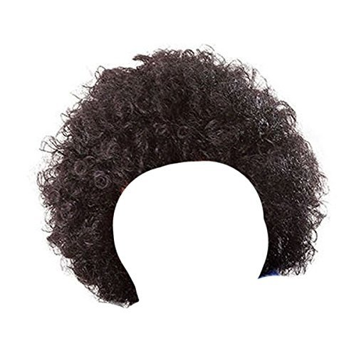 Childrens Kids Boys Girls Black Curly Afro Wig Clown Halloween Fancy Dress by Blue Planet Online