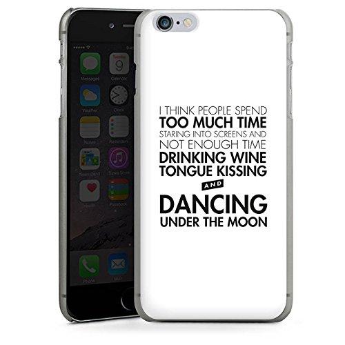 Apple iPhone X Silikon Hülle Case Schutzhülle Liebe Sprüche Tanzen Hard Case anthrazit-klar