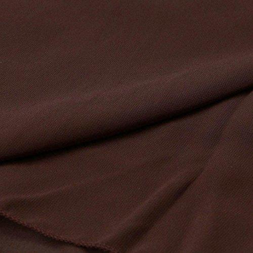 Kleid Transer® Damen/Mädchen V-Ausschnitt Ärmellos Überdimensioniert Lose Kleid Festival Cocktail Picknick Sommer Strand Chiffon Schwarz Blau Weiß Braun Kleider Gr.S-XXXXXXL Braun