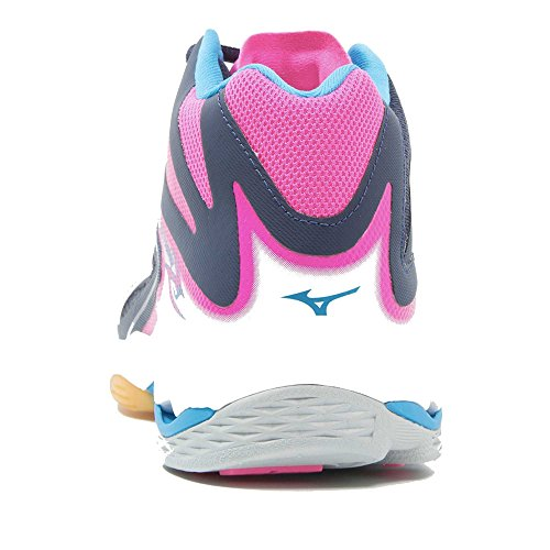 Mizuno Wave Lightning Z3 Mid W, Chaussures de Volleyball Femme Multicolore (Peacoat/white/pinkglo)