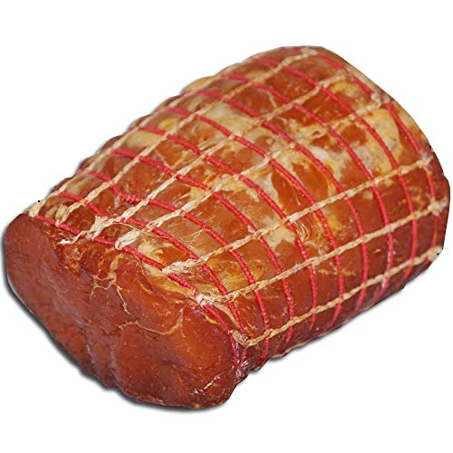 Lachsschinken - Fleischerei Kriewitz | Schinken, Schinkenspeck, Pökelware | goldgelb geräuchert, saftig, hoher Proteinanteil | 300g