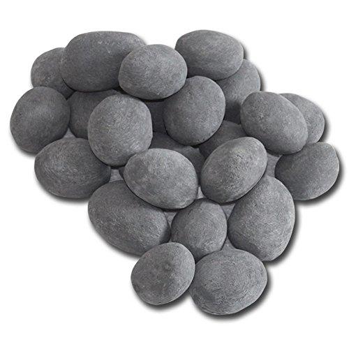24piezas de cerámica piedras, gris chimenea de Gel Bioetanol quemador decoración planta...