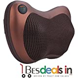 Easement Car Home Office Seat Chair Heat Balls Massager Pillow Neck Shoulder Massage Massager For Home, Office And Car Use (Multi Color)