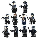 BOROK 10PCS Mini Figuren Set Armee Minifiguren Soldaten SWAT Bausteine Spielzeug Minifiguren Toys