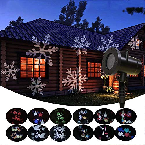 Lxhgl Mini-LED-Projektor Ultra High Brightness Animation Magic Mode Mit Fernbedienung 12PCS Wasserproof Lawn Projektor 18 * 13.5 * 18.5Cm Geeignet Für Garden Pool Party