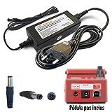 ABC Products Remplacement Boss / Roland PSU 9V / 9 Volt / 200 Mah Adaptateur Secteur Mur Cable / Alimentation avec interrupteur PSA-230ES, PSA-230S, PSA-240 Pour sélectionner Pédale / Pedal (Modèles énoncés ci-dessous) 3 mètres de long câble