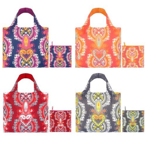 LOQI CO.OP Design-Einkaufstasche Set, Opulent Collection Pocket