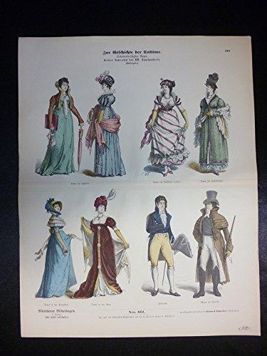 Zur Geschichte der Kostüme - Nr. 661 - Erstes Jahrzehnt des XIX. Jahrhunderts.