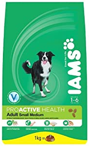 IAMS Adult Small or Medium Breed Chicken Dry Dog Food 1 kg (Pack of 4) by Procter & Gamble