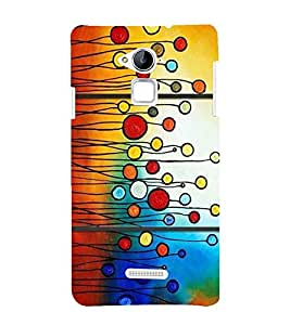 PrintVisa Painted Circles 3D Hard Polycarbonate Designer Back Case Cover for Coolpad Note 3