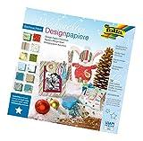 folia 10549 - Designpapierblock Weihnachten, 30,5 x 30,5 cm, 12 Blatt sortiert